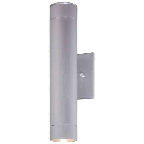 "The Great Outdoors Outdoor Lantern 1-Lite Led Wall Bracket Tested 3"" In Brushed Aluminum"