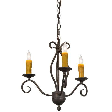 "18"" W Sienna 3 Lt Chandelier - Custom Crafted In Yorkville - New York Please Allow 30 Days"