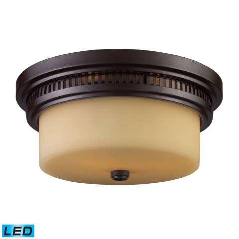Chadwick 2-Light Flush Mount In OiLED Bronze - LED - 800 Lumens (1600 Lumens Total) With Full Scal…