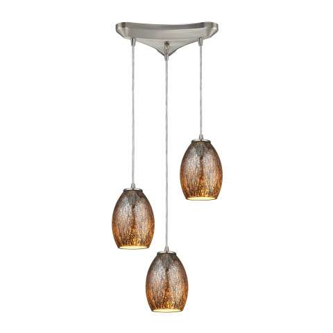 Venture 3 Light Pendant In Satin Nickel