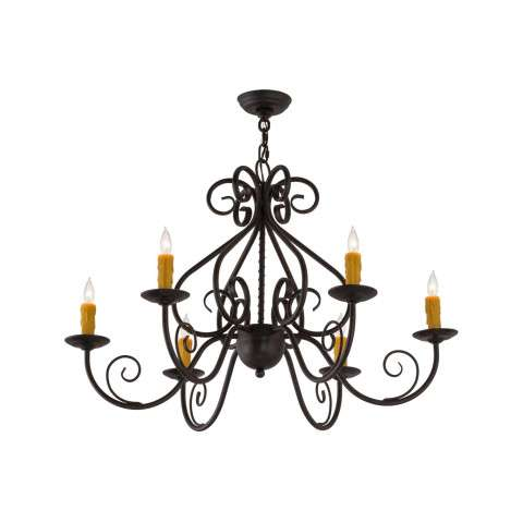 "36"" W Jenna 6lt Chandelier - Custom Crafted In Yorkville - New York Please Allow 30 Days"