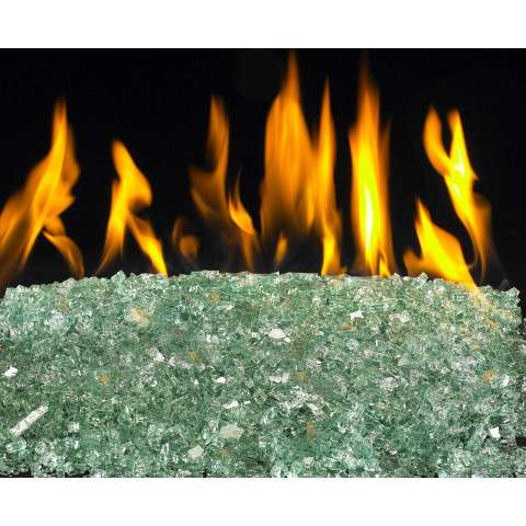 Emerald Fireplace Glass Crystals - 7.5lb bag