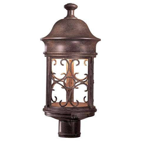 The Great Outdoors 1 Light Post Mount In Vintage Rust™ Finish