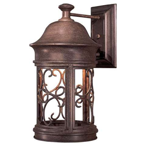 The Great Outdoors 1 Light Wall Mount In Vintage Rust™ Finish