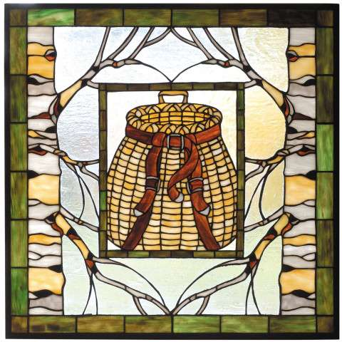 Meyda Tiffany 73909 Pack Basket Stained Glass Window
