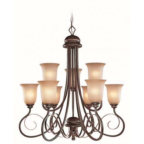 Craftmade Exteriors Preston Place - Augustine 9 Light Chandelier in Augustine