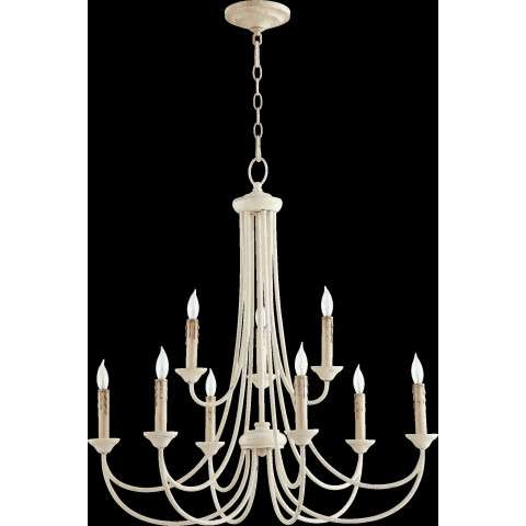 Brooks 9 Light Candle Chandelier in Persian White