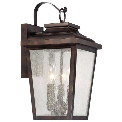 The Great Outdoors 3 Light Wall Mount In Chelesa Bronze™ Finish W/Clear Seeded Glass