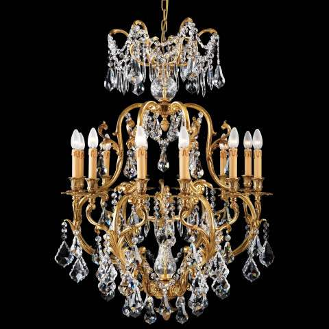 Metropolitan N9701 Twelve Light Chandelier in French Gold finish