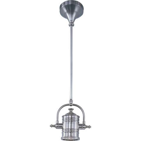 Maxim 25125FTPN Hi-Bay 1-Light Pendant/Wall Sconce/Semi-Flush in Polished Nickel with Frosted glass.