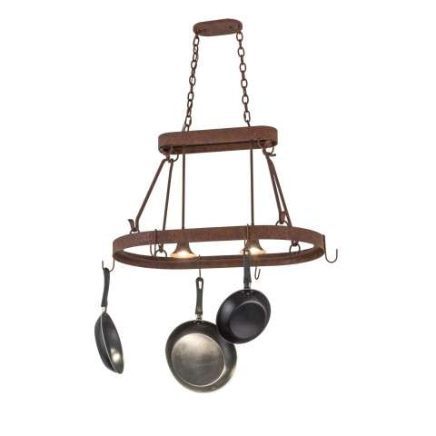 "Rustic Southwest Contemporary - 32"" L Harmony 2 LT Pot Rack"