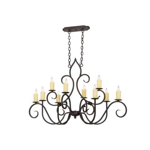 "48"" L Clifton 10 Lt Oblong Chandelier. Custom Crafted In Yorkville - New York Please Allow 30 Days"