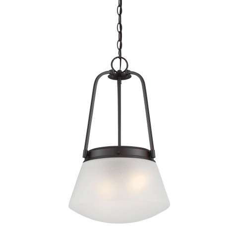 Mason Inverted Pendant in Satin Bronze