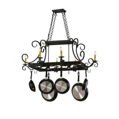 "50"" L Caiden 6 Lt W/Downlights Pot Rack. Custom Crafted In Yorkville - New York Please Allow 30 Days"