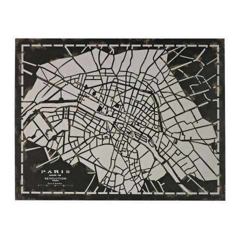 Wall Art - City Map-Laser Cut Map Of Paris Circa 1790 - Metal