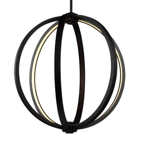 "Khloe 20"" LED Globe Pendant in Oil Rubbed Bronze"