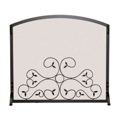 "Single Panel Fireplace Screen - 39"" Wide x 33"" Tall"