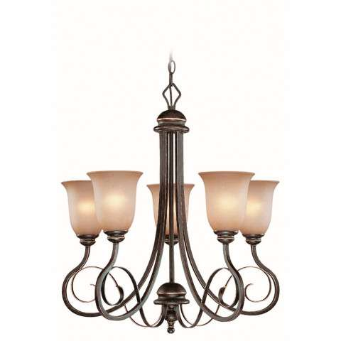Craftmade Exteriors Preston Place - Augustine 5 Light Chandelier in Augustine