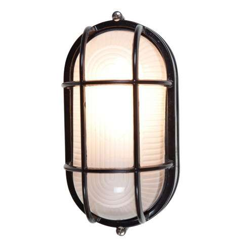 Access Lighting 20290-BL/FST Nauticus Wet Location Bulkhead in Black finish with Frosted glass