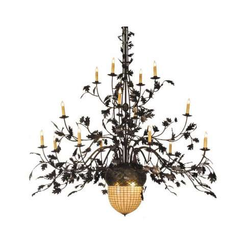 Greenbriar Oak 16 Arm Chandelier
