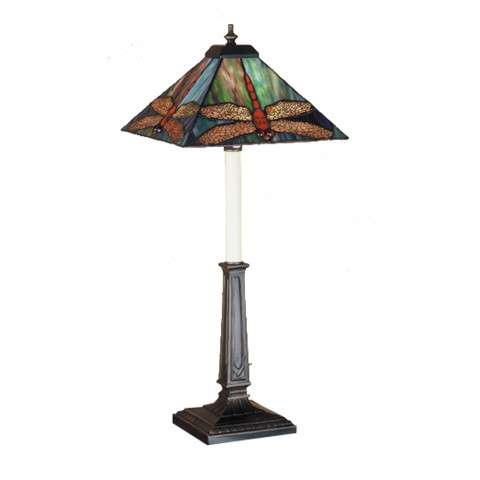 Meyda Tiffany 47833 Prairie Dragonfly Buffet Lamp in Copperfoil finish