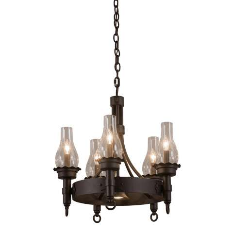 "22"" W Durango 5 Lt Chandelier - Custom Crafted In Yorkville - New York Please Allow 30 Days"