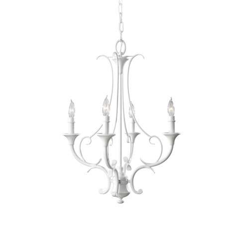 Peyton Saltspray 4 Bulb Semi Gloss White Chandelier