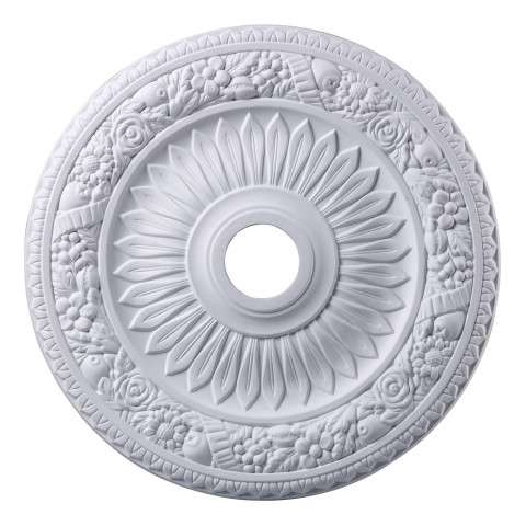 Elk Lighting M1006WH Floral Wreath Medallion 24 Inch In White Finish