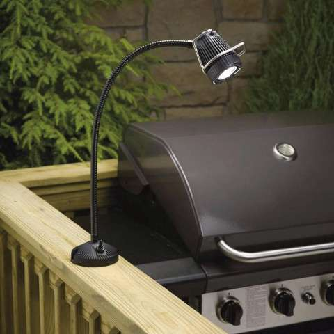 Kichler 15123BK Deck Rail 1-Lt 12V BBQ in Black Material (Not Painted).