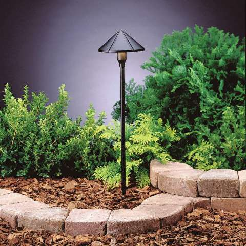 Utilitarian Landscape - LED Center Mount Path Light in Textured Black