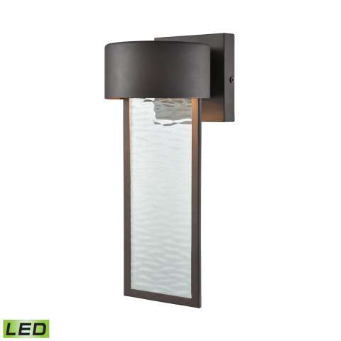 Julius Outdoor LED Wall Sconce In Clay Bronze