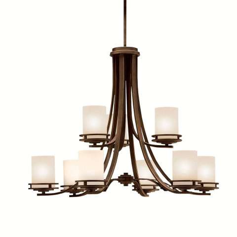 Kichler 1674OZ Chandelier 9Lt in Olde Bronze.