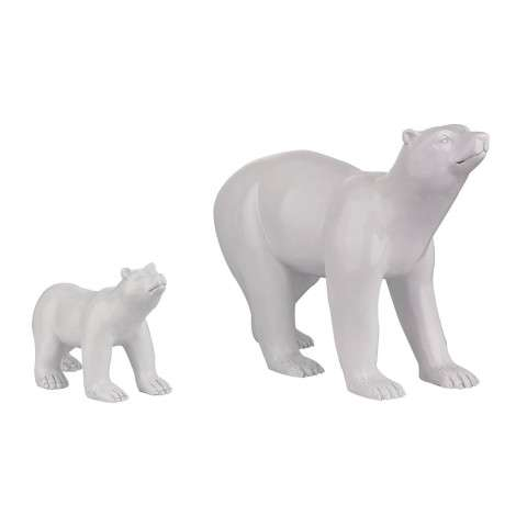Sculpture - Set Of 2 Polar Bears - Composite