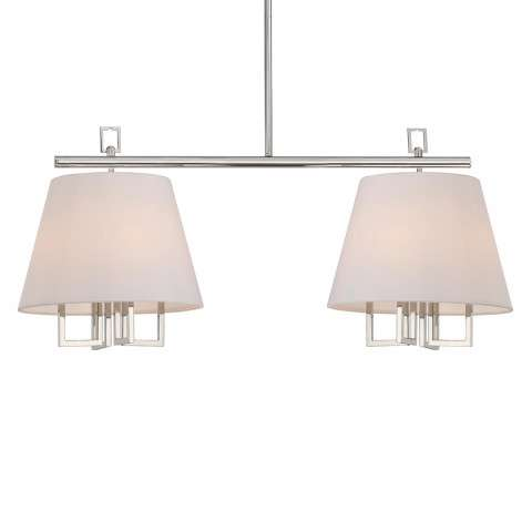 Libby Langdon for Crystorama Westwood 8 Lt Polished Nickel Pendant
