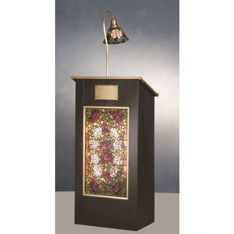 Meyda Tiffany 79815 Rosebush Lighted Podium in Timeless Bronze finish