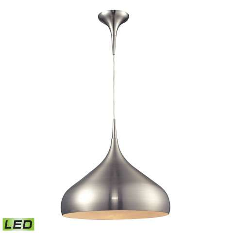 Lindsey (Existing) Collection 1 light pendant in Satin Nickel - LED Offering Up To 800 Lumens (60…