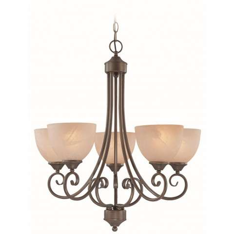 Craftmade Exteriors Raleigh - Old Bronze 5 Light Chandelier in Old Bronze