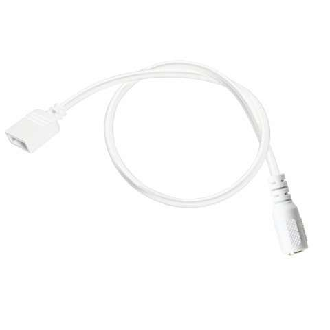 Accessory - LED Tape 2ft Supply Lead - White Material (Not Painted)
