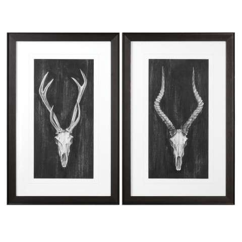Rustic European Mounts Prints S/2