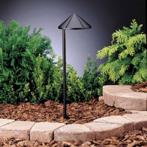 Kichler 15315BKT Path & Spread 1-Lt 12V in Textured Black.