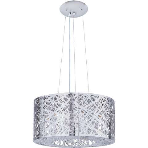 ET2 Contemporary Lighting E21309-10PC Inca 7-light Single Pendant in Polished Chrome finish