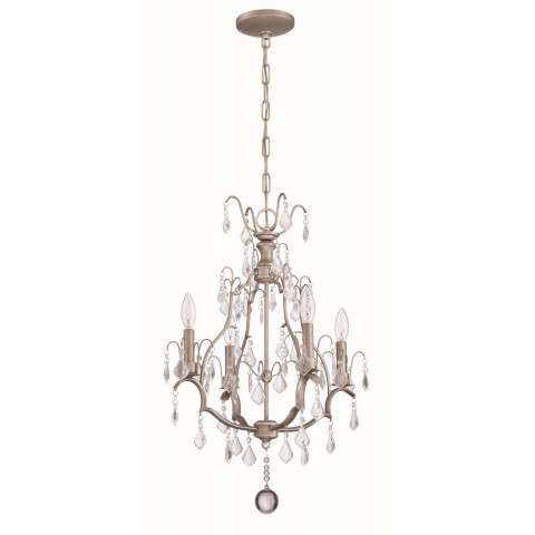4 Light Mini Chandelier in Athenian Obol