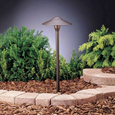 Kichler 15310AZT6 Path & Spread 1-Lt 12V in Textured Architectural Bronze.