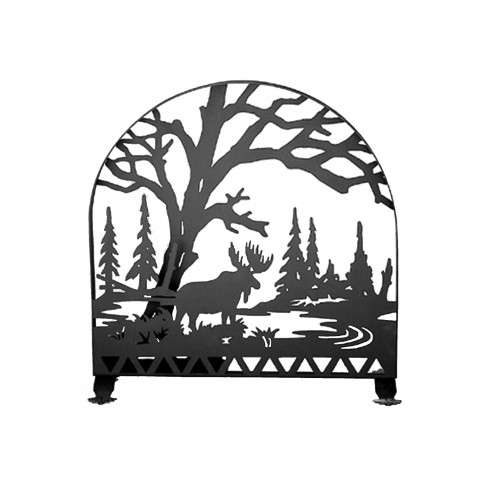 "Moose Fireplace Screen - 30"" Wide x 30"" Tall"