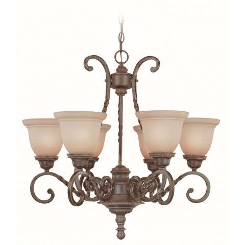 Craftmade Exteriors Sutherland - English Toffee 6 Light Chandelier in English Toffee