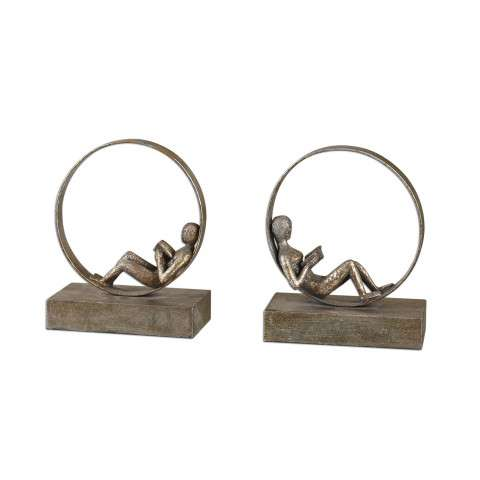 Uttermost 19596 Lounging Reader - Bookends - S/2