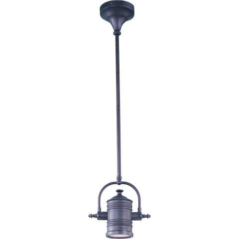 Maxim 25125FTBZ Hi-Bay 1-Light Pendant/Wall Sconce/Semi-Flush in Bronze with Frosted glass.