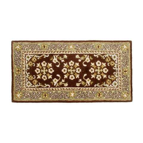 "Rectangular Rug Oriental 44""x22"" - Coffee - Coffee"