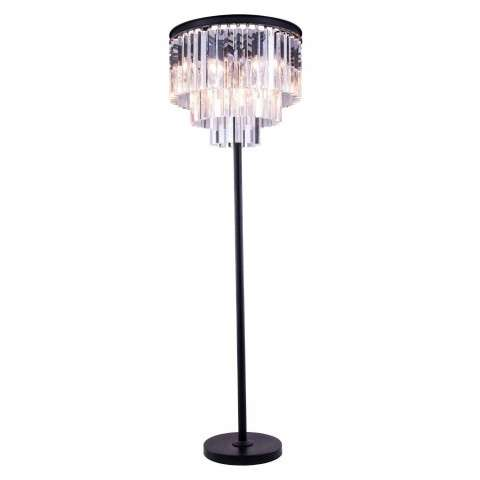 "1201 Sydney Collection Floor Lamp D:20"" H:63"" Lt:8 Mocha Brown Finish (Royal Cut  Crystals)"