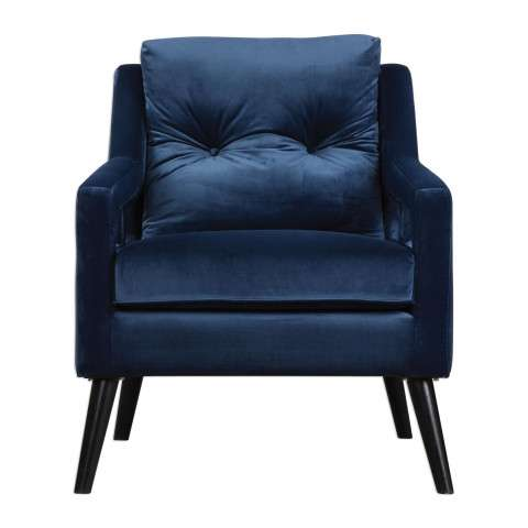 O´Brien Blue Velvet Armchair